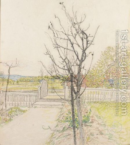 Bron (The Bridge) by Carl Larsson - Reproduction Oil Painting
