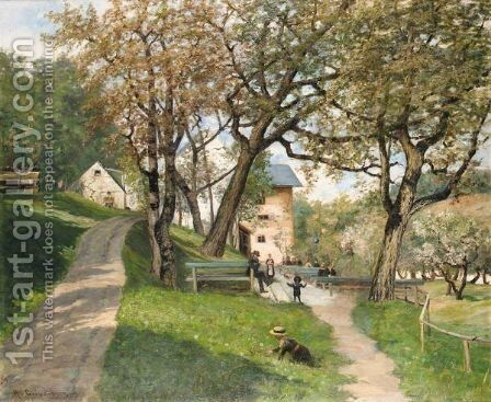 Grossehesselohe by Hulda Gronneberg - Reproduction Oil Painting