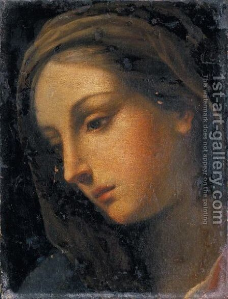 Testa Femminile by (after) Lorenzo Lippi - Reproduction Oil Painting