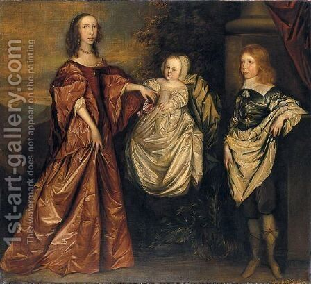 Ritratto Di Famiglia by (after) Dyck, Sir Anthony van - Reproduction Oil Painting