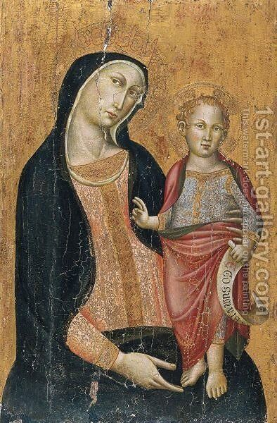 Madonna Col Bambino 2 by Italian School - Reproduction Oil Painting