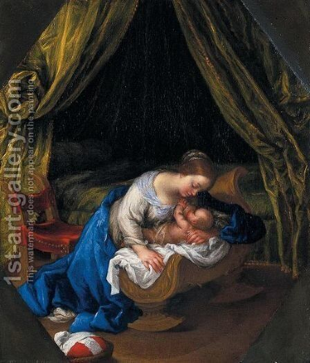 Madonna Col Bambino by (after) Carlo Cignani - Reproduction Oil Painting