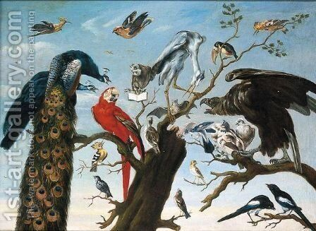 Concerto Di Uccelli by (after) Frans Snyders - Reproduction Oil Painting