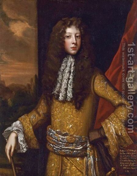 Portrait Of Robert, Lord Willoughby, Later 1st Duke Of Ancaster by Sir Godfrey Kneller - Reproduction Oil Painting