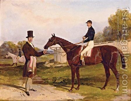 Mr. John Bowe's Daniel O'rourke With Frank Butler Up by Harry Hall - Reproduction Oil Painting