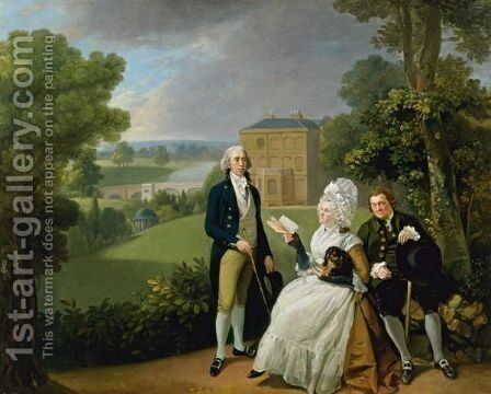 Portrait Of The Sayer Family by (after) Johann Zoffany - Reproduction Oil Painting