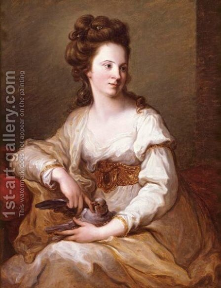 Portrait Of A Lady 2 by Angelica Kauffmann - Reproduction Oil Painting
