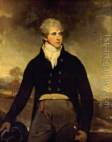 Portrait Of A Young Man, Said To Be Sir Harry Neal by Sir William Beechey - Reproduction Oil Painting