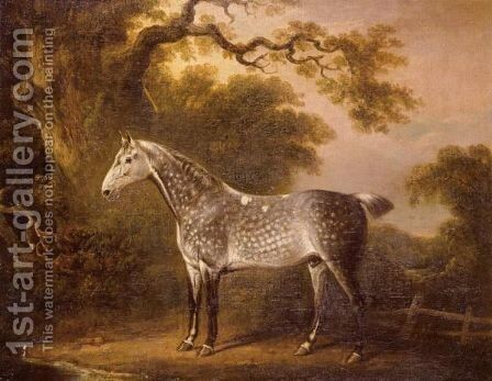 A Dappled Grey Hunter by (after) Charles Towne - Reproduction Oil Painting