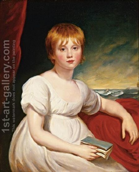 Portrait Of Miss Elizabeth Johnson by Sir Martin Archer Shee - Reproduction Oil Painting