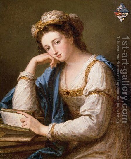 Portrait Of Lady Louisa Dorothea Holroyd (Died 1854) by Angelica Kauffmann - Reproduction Oil Painting