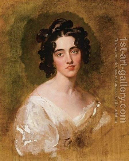 Portait Of Lady Georgina North (Died 1835), Unfinished by Sir Thomas Lawrence - Reproduction Oil Painting