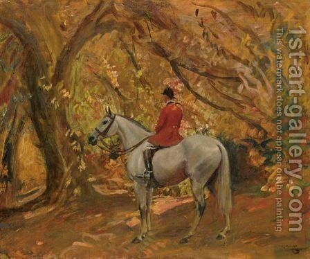 Autumn Sunshine by Sir Alfred James Munnings - Reproduction Oil Painting