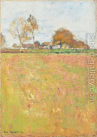 Paysage, 1904 by Edouard Vallet - Reproduction Oil Painting