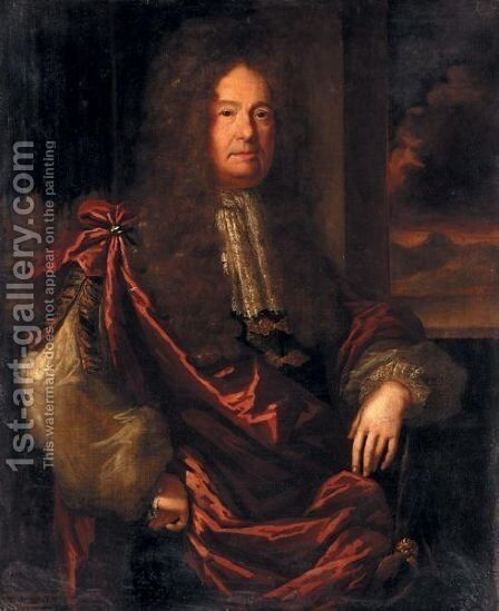 Portrait Of Sir Robert King, Bt., Of Boyle Abbey, County Roscommon (C.1625-1708) by Johann Closterman (after) - Reproduction Oil Painting