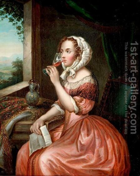 Portrait Of A Lady by (after) Mercier, Philippe - Reproduction Oil Painting