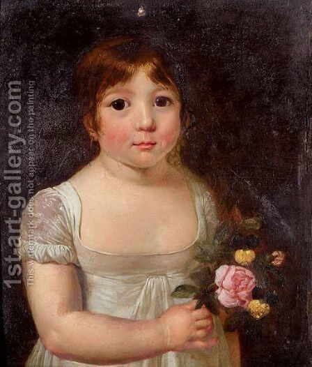 Portrait Of A Young Girl by Jacques Laurent Agasse - Reproduction Oil Painting