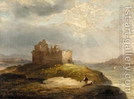 Castle Tioram, Moidart by James Francis Williams - Reproduction Oil Painting