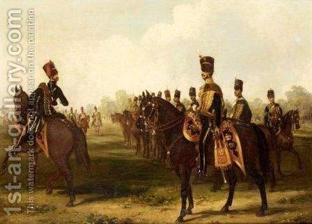 7th (Queen's Own) Hussars by Henry Martens - Reproduction Oil Painting