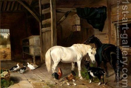 Stable Friends by (after) Herring Snr, John Frederick - Reproduction Oil Painting