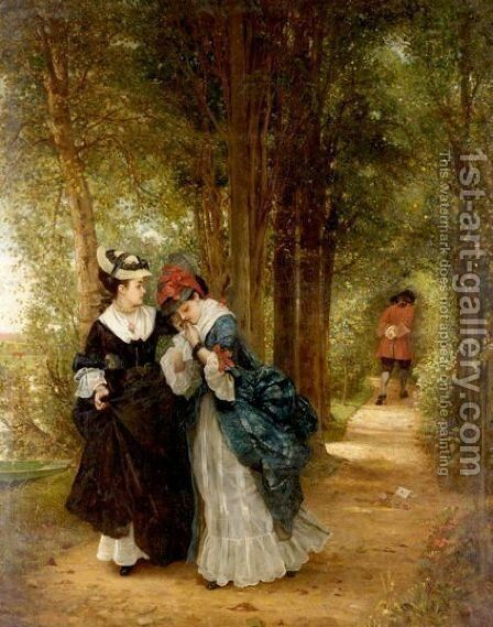 The Letter by (after) George Adolphus Storey - Reproduction Oil Painting