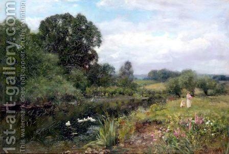 The River Bank by Henry John Yeend King - Reproduction Oil Painting