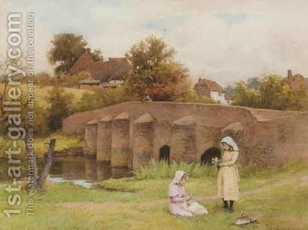 On The River Wey by Charles Edward Wilson - Reproduction Oil Painting