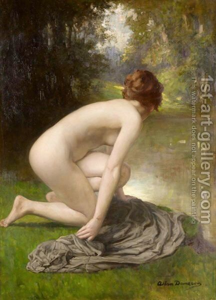 The Bather by Allan Douglas Davidson - Reproduction Oil Painting
