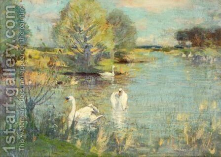 The Swan Lake by David Murray - Reproduction Oil Painting