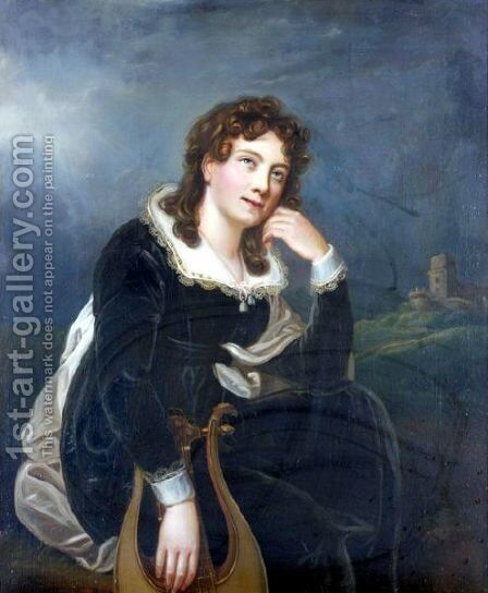 Portrait Of A Lady 2 by Continental School - Reproduction Oil Painting