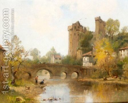 Le Chateau De Clisson by Maurice Levis - Reproduction Oil Painting