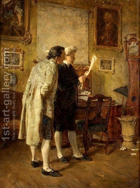 The Consultation by Carl Seiler - Reproduction Oil Painting
