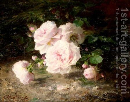 Still Life Of Roses by Marie Beloux - Reproduction Oil Painting