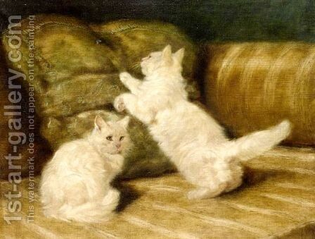 Ready To Pounce by Arthur Heyer - Reproduction Oil Painting