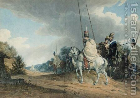 Cossack Patrol by Alexander Orlovsky - Reproduction Oil Painting