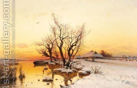 Winter Landscape 3 by Iulii Iul'evich (Julius) Klever - Reproduction Oil Painting