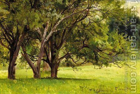 Trees In Summer by Andrei Nikolaevich Shilder - Reproduction Oil Painting