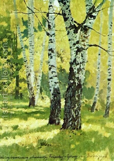 Birch Grove by Isaak Ilyich Levitan - Reproduction Oil Painting