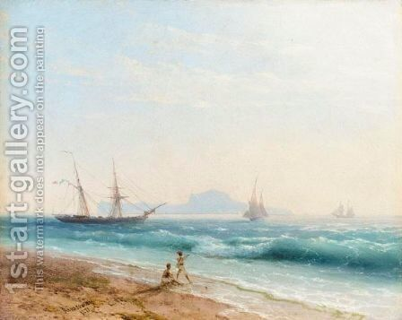 View Of Ischia by Ivan Konstantinovich Aivazovsky - Reproduction Oil Painting