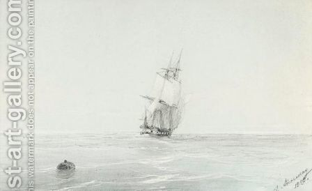 Ship On The Ocean by Ivan Konstantinovich Aivazovsky - Reproduction Oil Painting