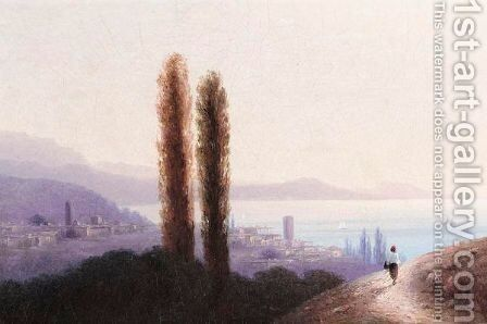 View Of The Crimea by Ivan Konstantinovich Aivazovsky - Reproduction Oil Painting