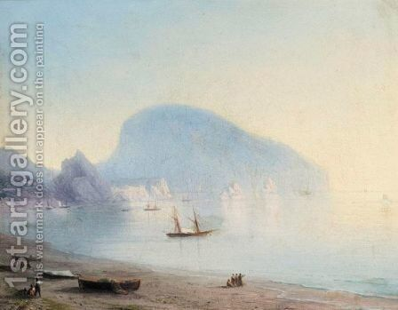 The Ayu-Dag by Ivan Konstantinovich Aivazovsky - Reproduction Oil Painting