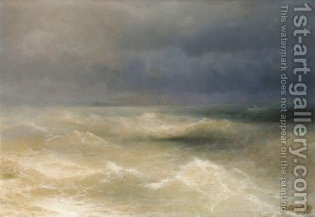 The Black Sea 2 by Ivan Konstantinovich Aivazovsky - Reproduction Oil Painting