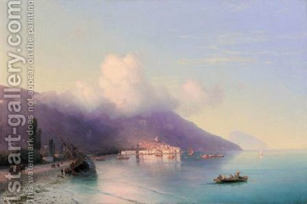View Of Yalta 2 by Ivan Konstantinovich Aivazovsky - Reproduction Oil Painting