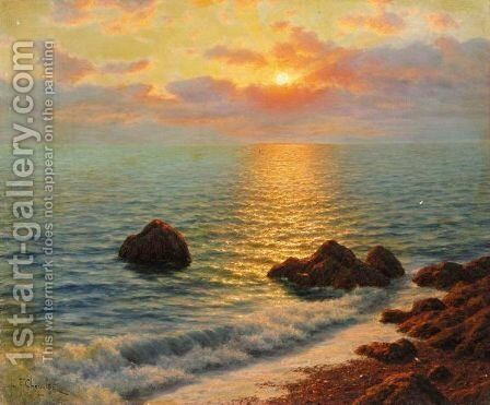 Evening Reflections by Ivan Fedorovich Choultse - Reproduction Oil Painting