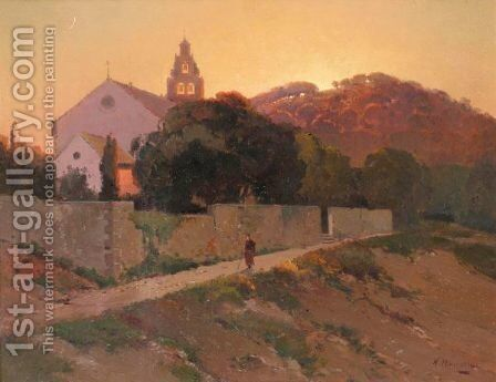 View Of Dubrovnik by Aleksei Vasilievich Hanzen - Reproduction Oil Painting