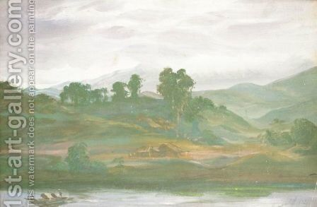 Chinese River Landscape by Alexander Evgenievich Yakovlev - Reproduction Oil Painting