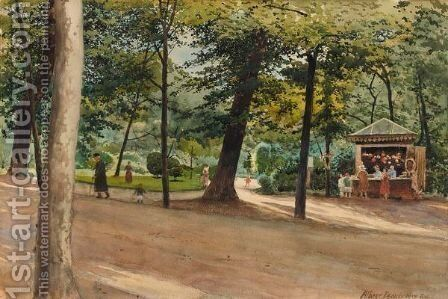 Parisian Park In Summer by Albert Nikolaevich Benois - Reproduction Oil Painting