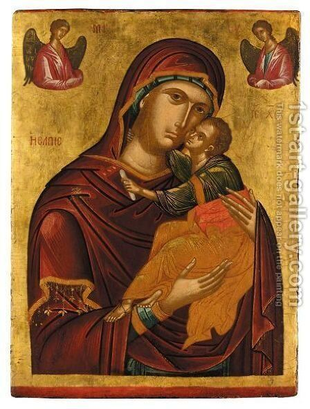 Virgin and child 3 by Italian Unknown Master - Reproduction Oil Painting