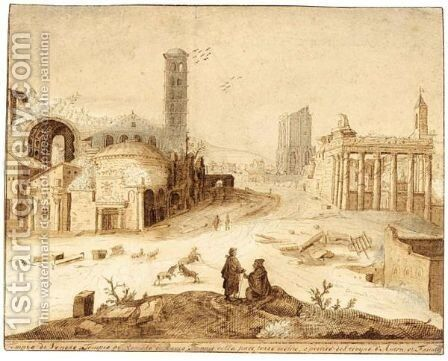 The Forum Romanum by (after) Willem Van, The Younger Nieulandt - Reproduction Oil Painting